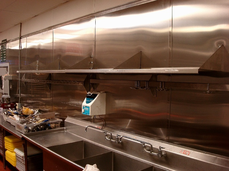 Transformation By CHR Metals   Awesome New Stainless Steel Kitchen Wall In  A Well Known Local